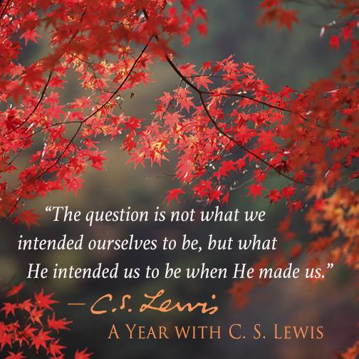 The question is not what we intended ourselves to be, but what He intended us to be when He made us. - C.S. Lewis